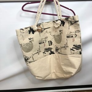 Heimish new bag linen lined large  tote holiday NY